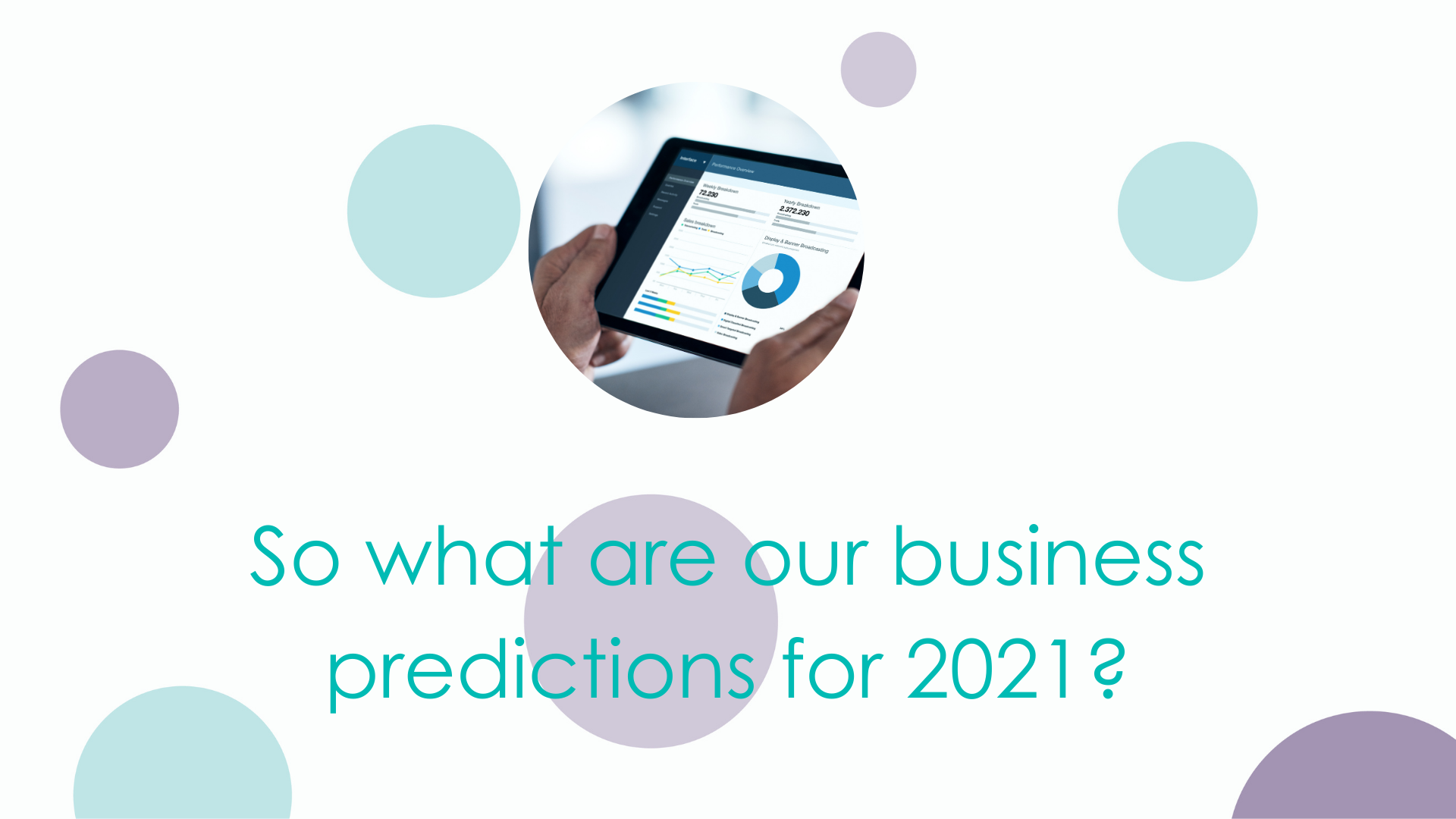 So what are ammu's business predictions for 2021?