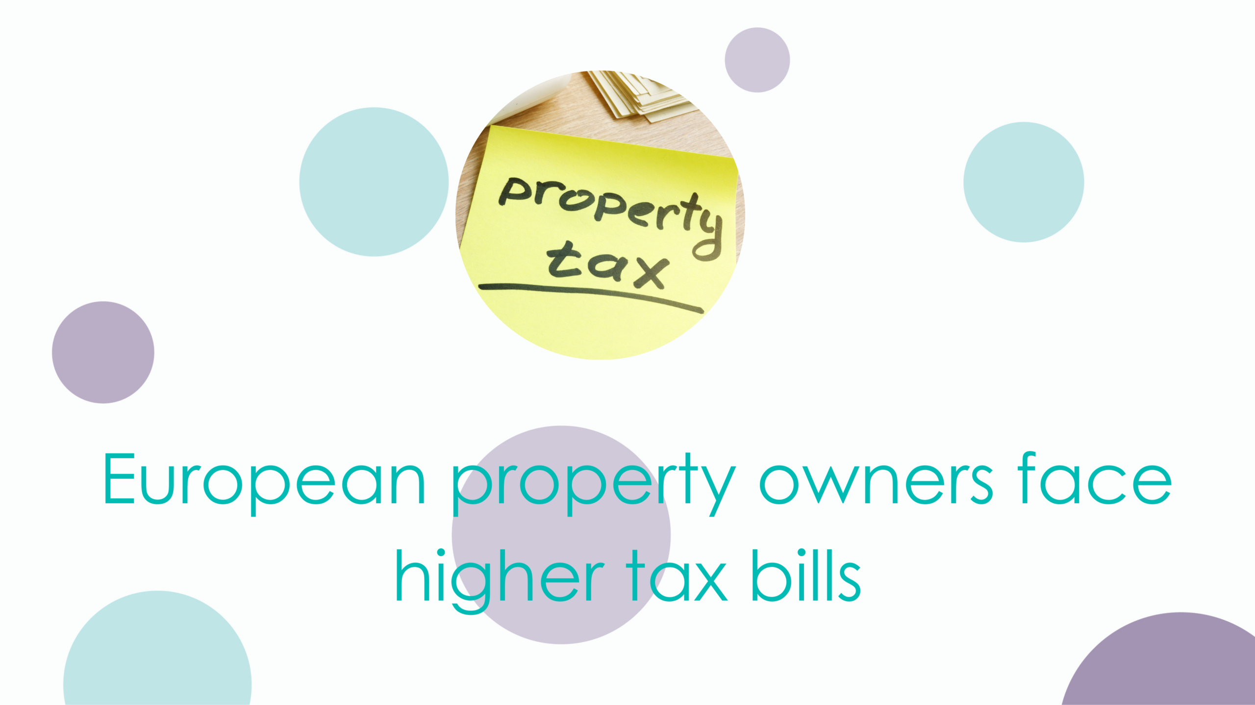 image of post it with property tax