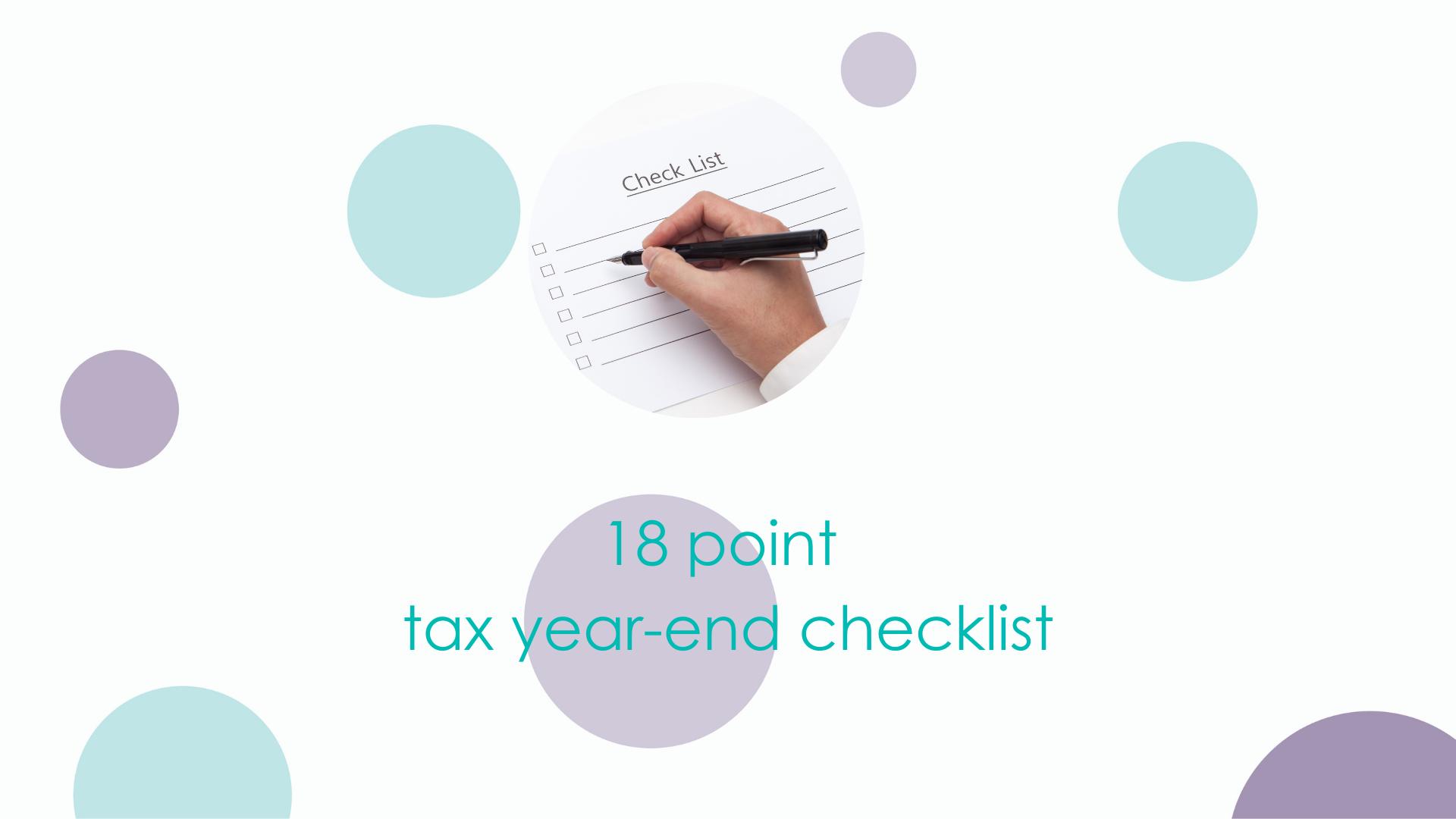 18 Point Tax Year End Checklist
