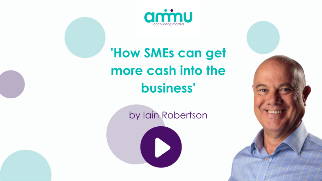 Iain Robertson explains how SMEs can get cash into the business