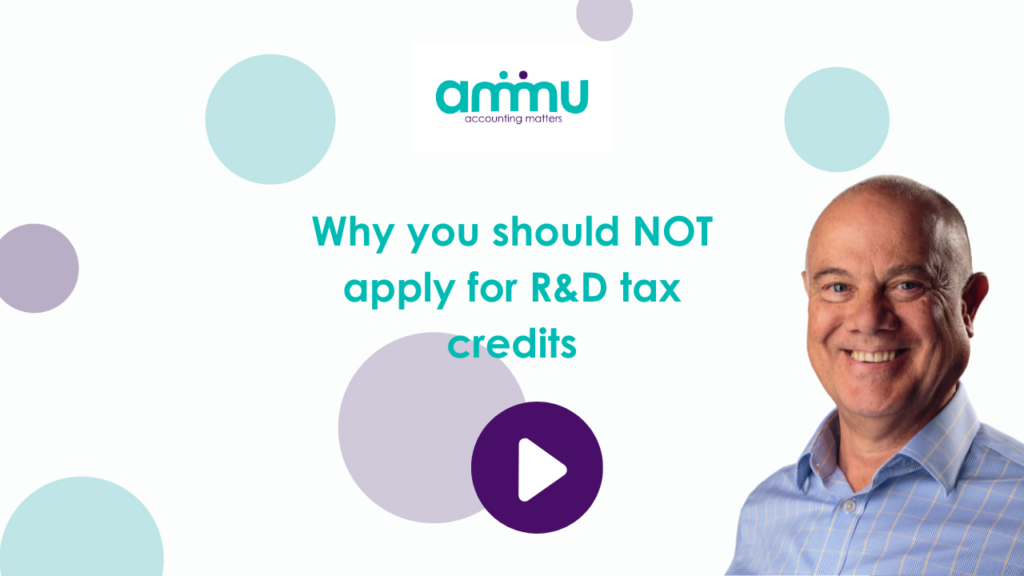 Why you should NOT apply for R&D tax credits