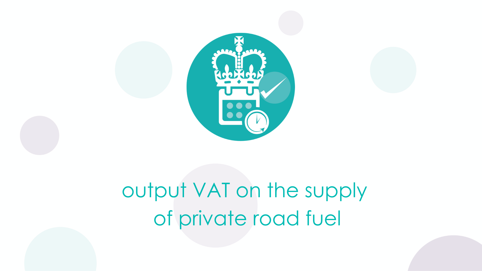 Output VAT on the supply of private road fuel