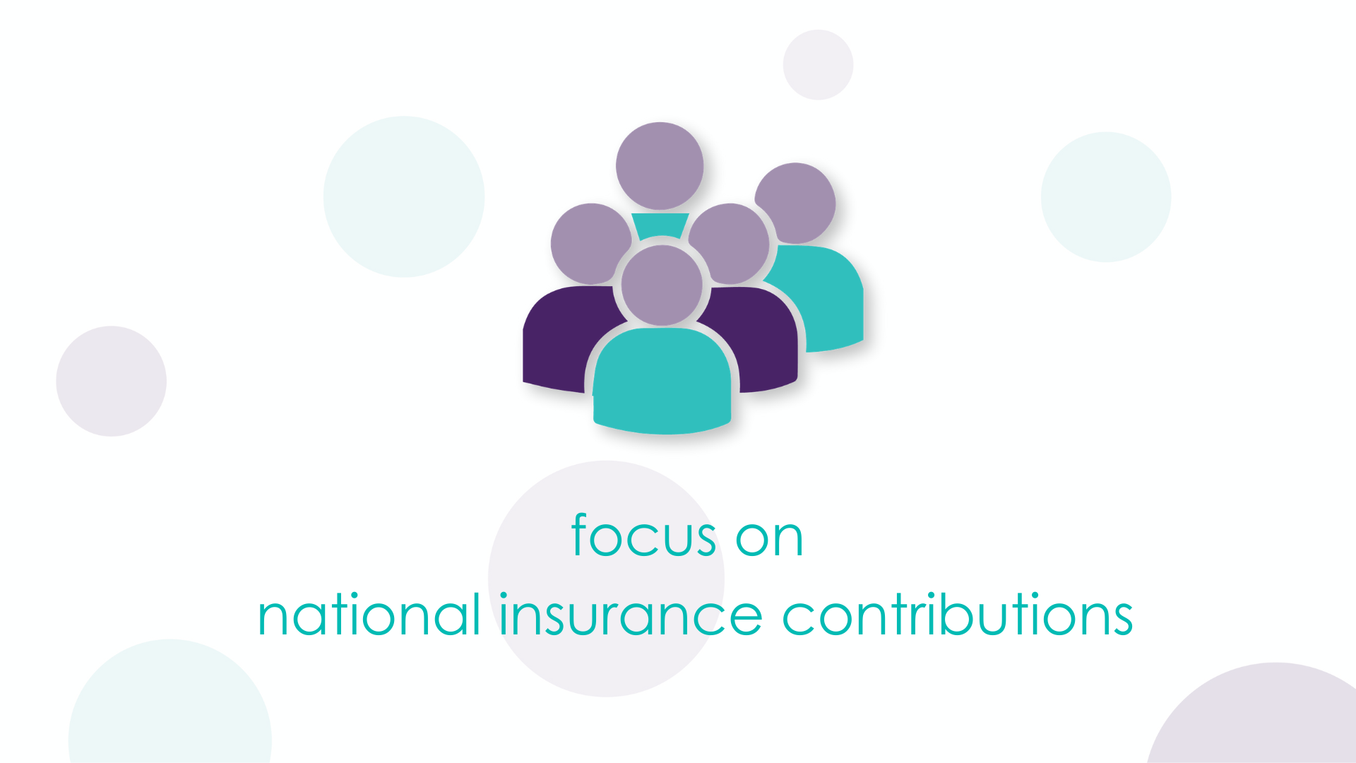 Focus on national insurance contributions
