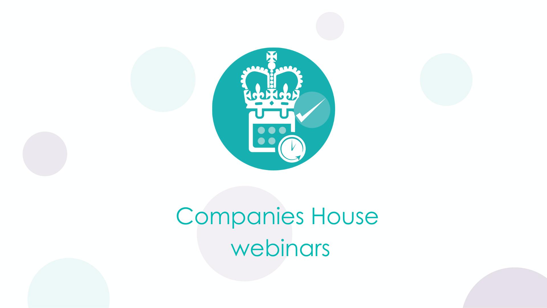 Companies House webinars