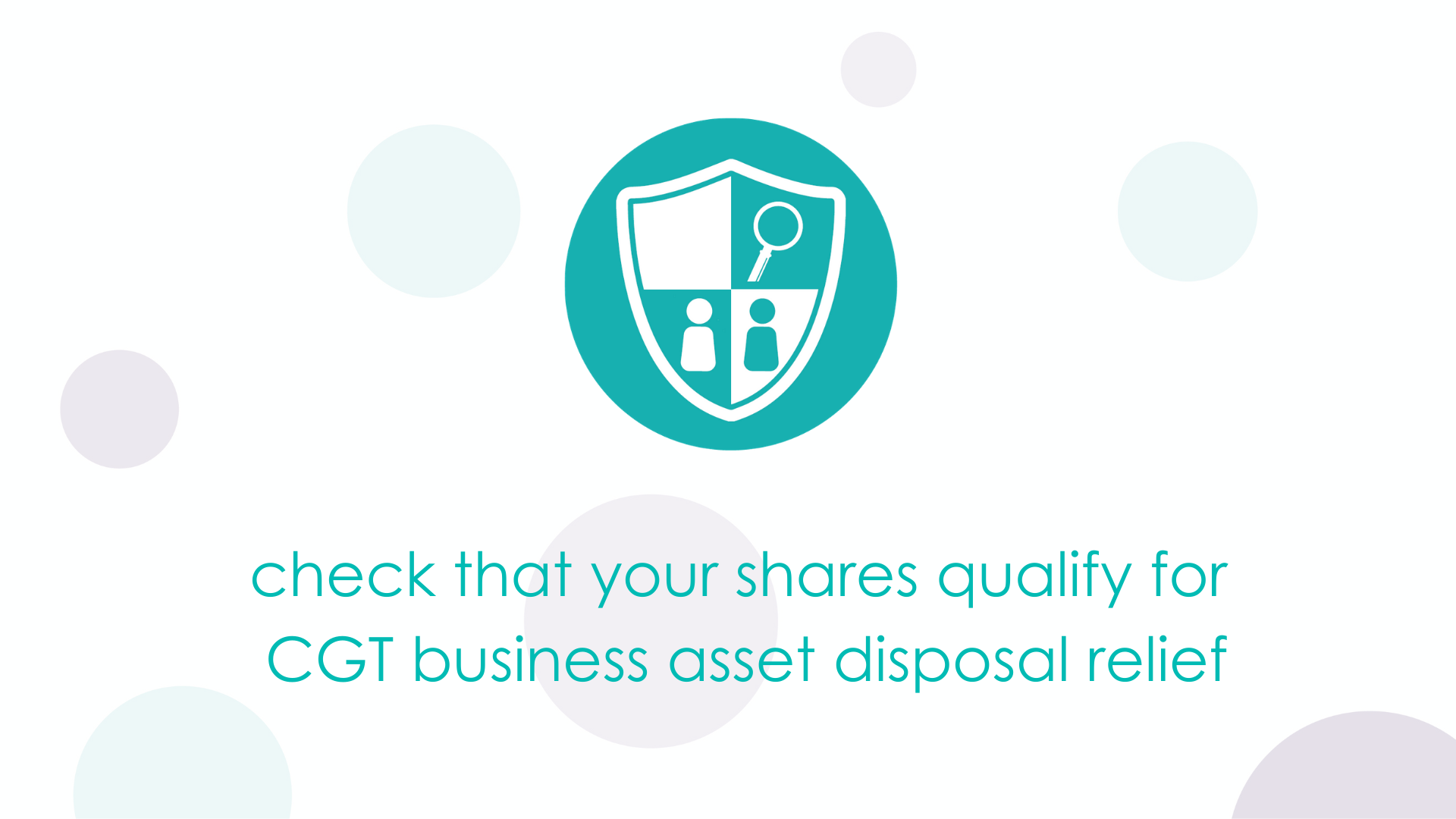 check that your shares qualify for CGT business asset disposal relief
