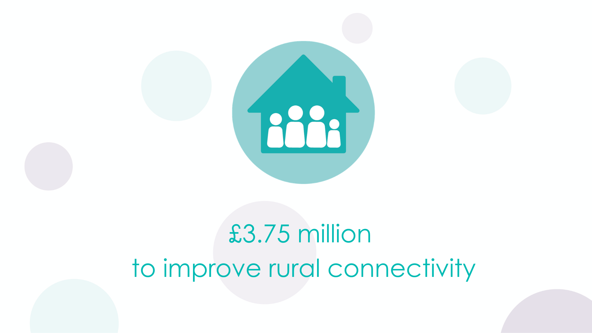 £3.75 million to improve rural connectivity