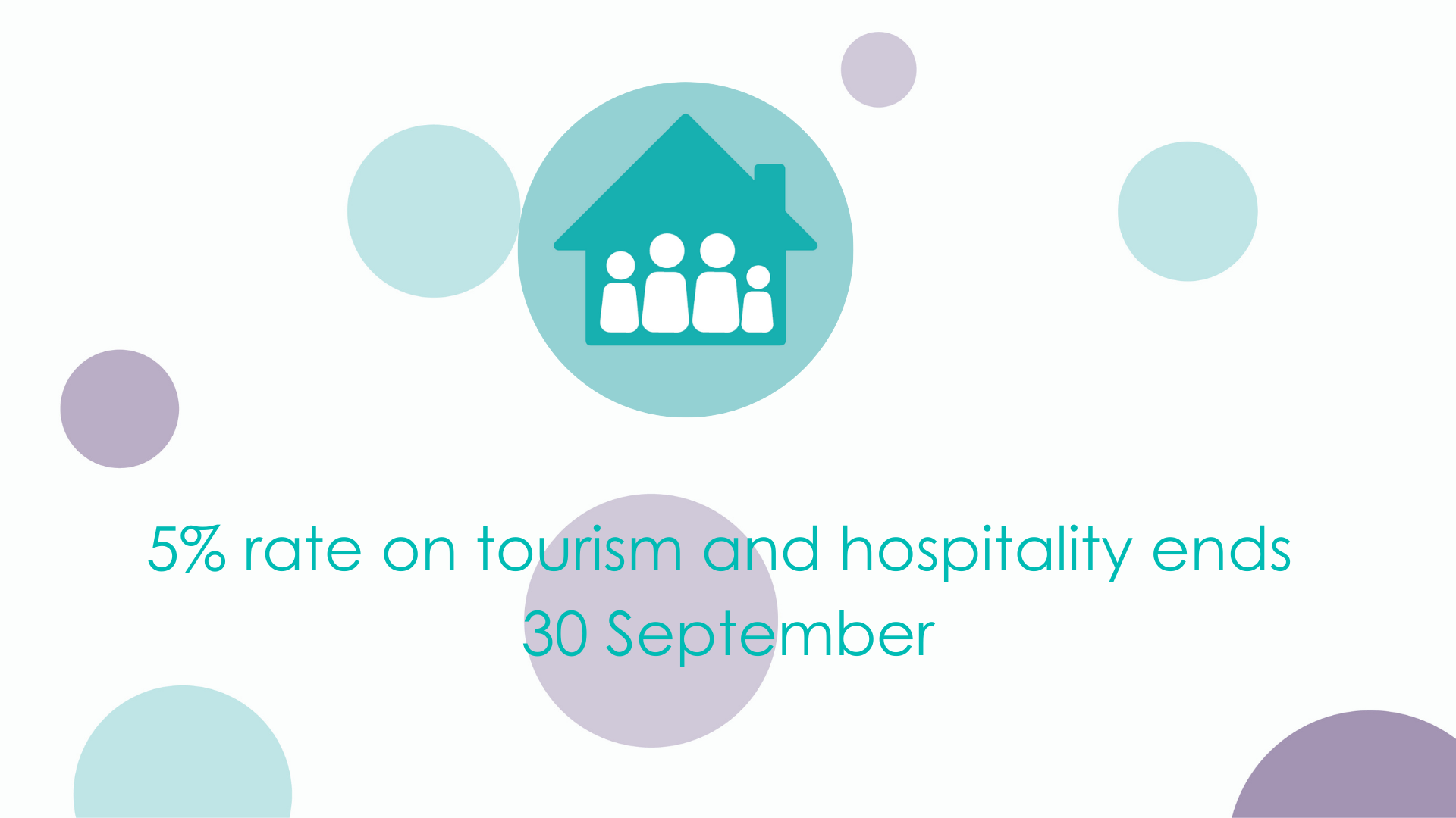 5% rate on tourism and hospitality ends 30 September