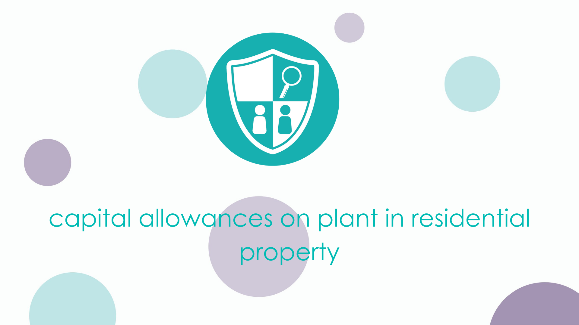 capital allowances on plant in residential property